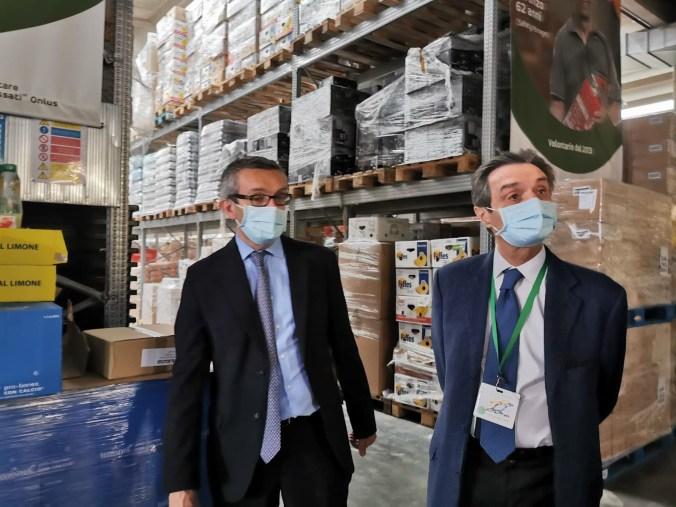 Fontana e Bolognini in visita all'Associazione Banco Alimentare della Lombardia (1)