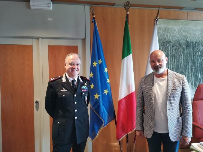 Il generale Angrisani e il presidente Bonaccini