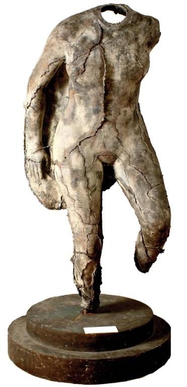 Mastroianni Nudo Femminile Maschera in Bronzo 145x60x43