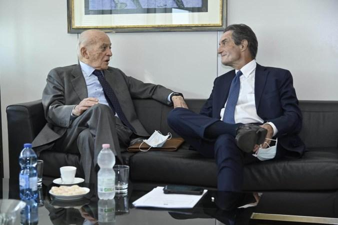 Piero Bassetti a colloquio con Attilio Fontana