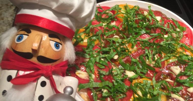 Tomato Basil Chicken Tart