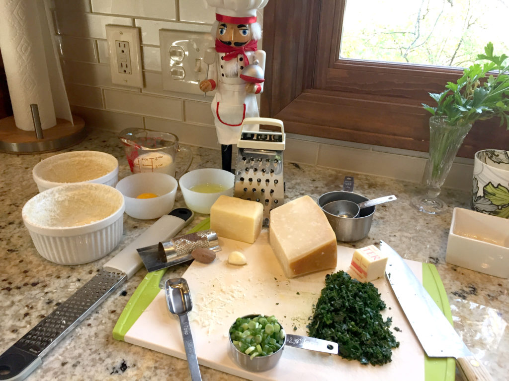 Kale Souffle ingredients
