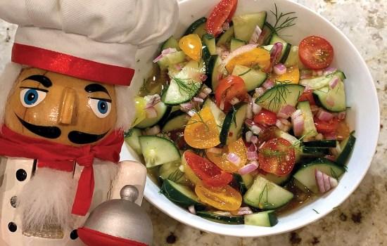 Tomato, Cucumber & Dill Salad