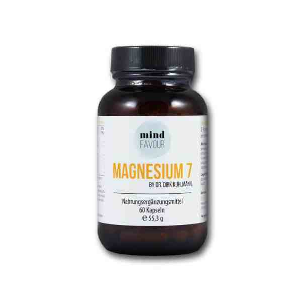 Buy MIND FAVOUR Magnesium 7 as a dietary supplement in capsules 25.06 white