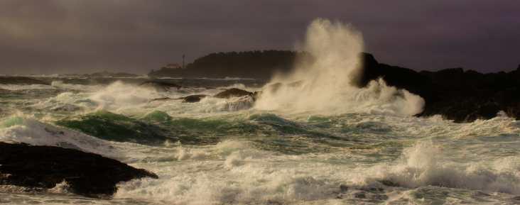 A battered coast