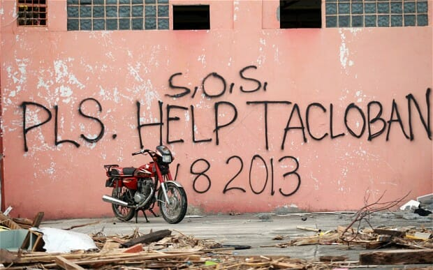 Tacloban city was one of the hardest hit areas