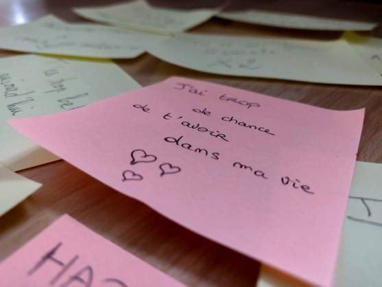 Mindandbeauty - Post-it : J'ai de la chance de t'avoir dans ma vie