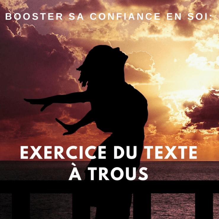 Booster sa confiance en soi : Exercice du texte à trous