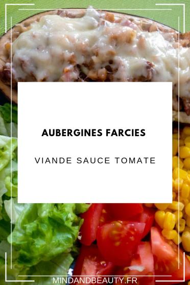 Mind & Beauty - Aubergines farcies viande sauce tomate