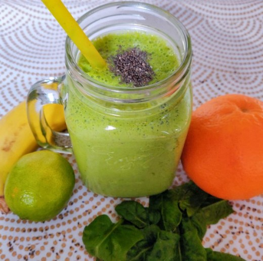 Mind & beauty - Green smoothie banane orange épinards