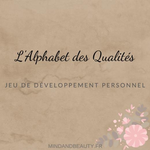 Mind and Beauty - Jeu de l'Alphabet des qualités