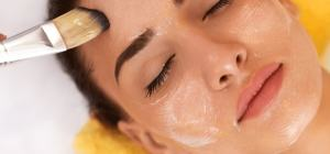 woman getting spa facial treatment