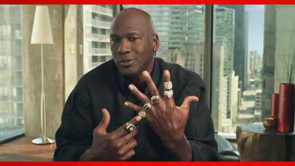 Michael Jordan with 7 rings