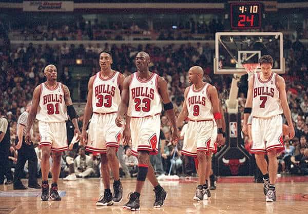 '95 Bulls starting lineup