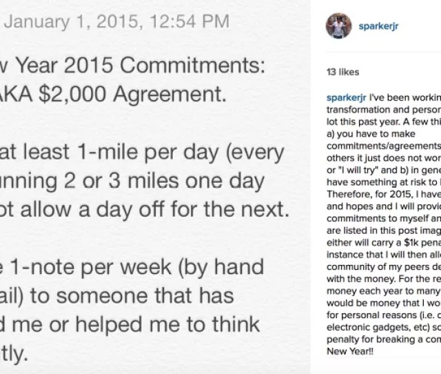 My Instagram Post Declaring My Goal For The Year
