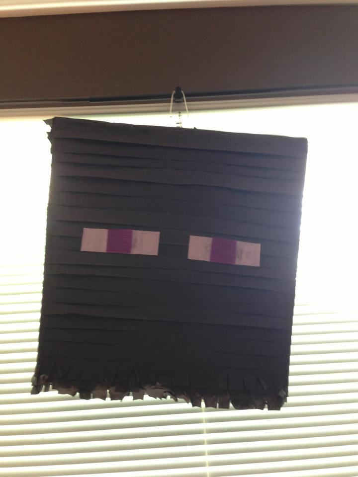 Minecraft Birthday Party Enderman Pinata