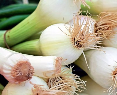 Spring onions for the chicken noodle stir-fry recipe