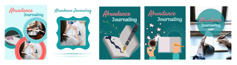 Abundance Journaling E-Book Cover Page Groupings