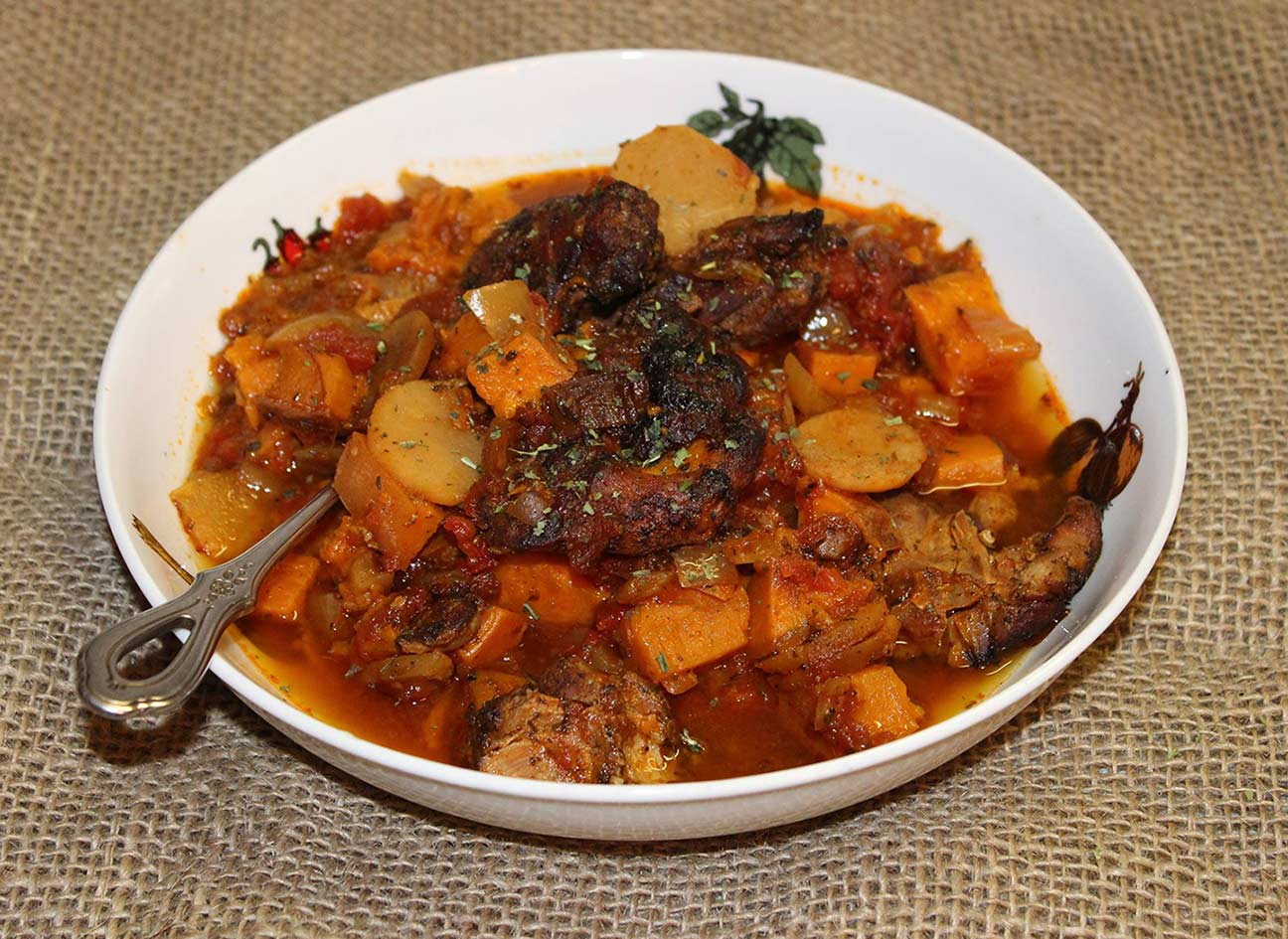Paleo Sweet Potato Braised Chicken Stew Recipe