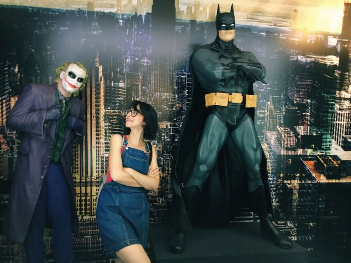 selfieset di batman alla mostra cinepassioni di genova