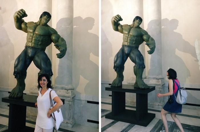selfie con hulk