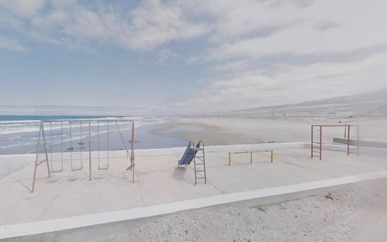 fotografia di un parcogiochi in peru scattata con google street view