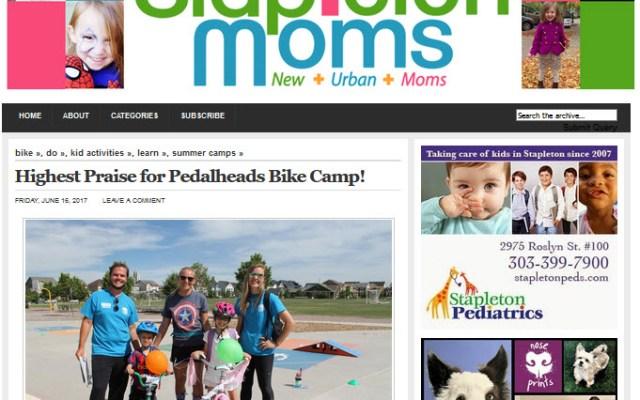 SM - Highest Praise for Pedalheads Bike Camp! 6-16-17