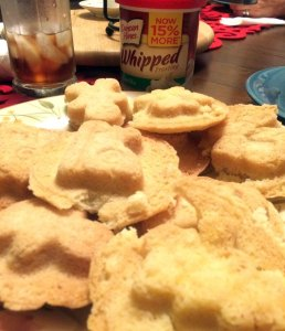 A platter of sugar cookies in assorted shapes.