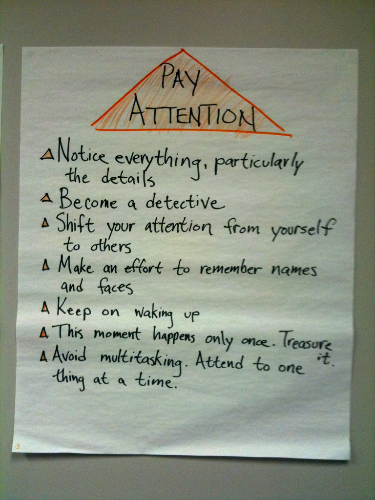 Note to self – Pay Attention