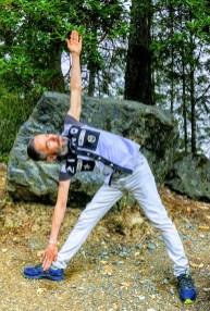Tony O'Shea-Poon yoga in the woods