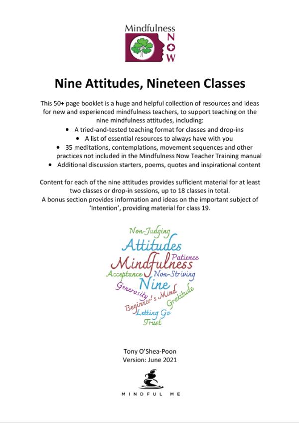 9 Attitudes 19 Classes Front Cover