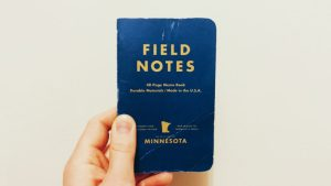 I use a field notes notebook for my gratitude journal.