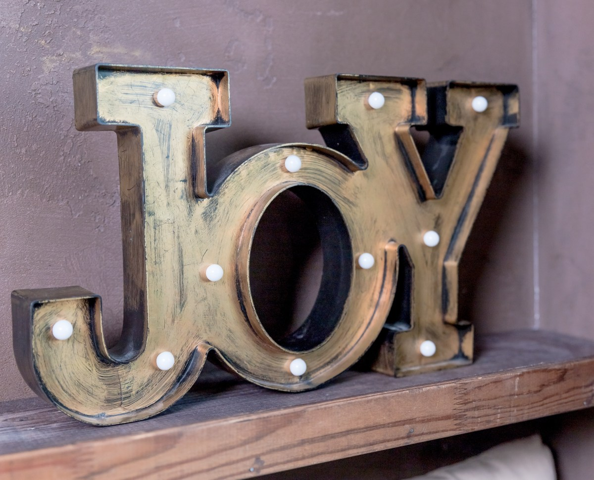 sign that says joy