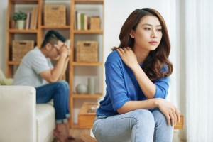 Unhappy couple in counseling | Affair recovery | Marriage counseling | Couples Counseling | Discernment counseling | Dallas, TX