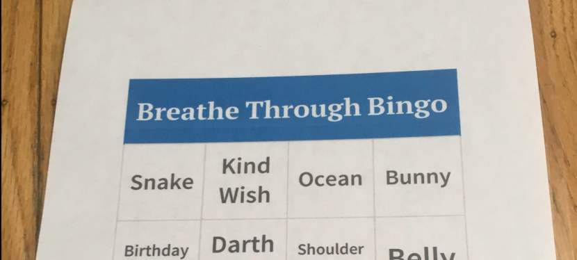 Breathe through Bingo