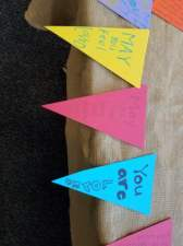 "Pennant Banners created for Veteran's Path at UCSD ""Bridging the Hearts & Minds of Youth"" Conference"