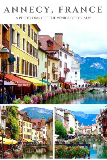 Annecy, France is a fairytale town located in the French alps, an hour away from Geneva. It is filled with French charm and a less crowded alternative to Venice..