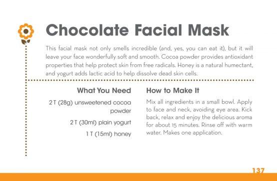 homemade chocolate facial mask
