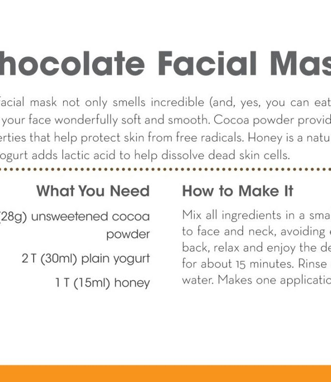 homemade chocolate facial mask