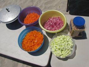 camping food: Thai salad fixins www.mindfulmomma.com