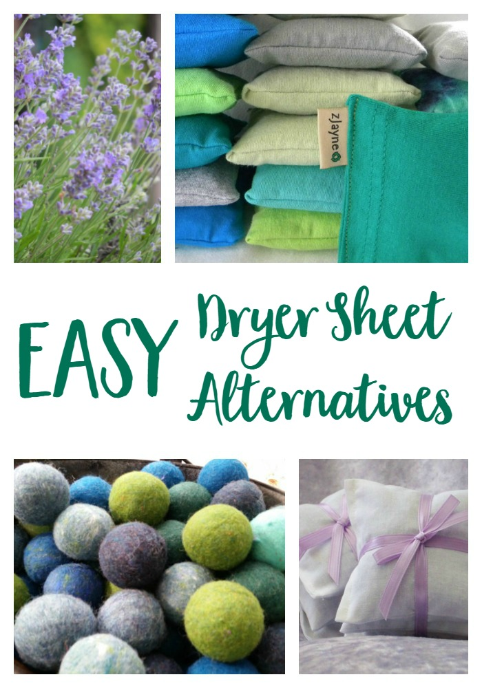 Dryer sheet alternatives that will keep your laundry smelling fresh and free of the toxic chemicals in traditional dryer sheets.