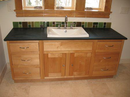 Green Bathroom Design - vanity www.mindfulmomma.com