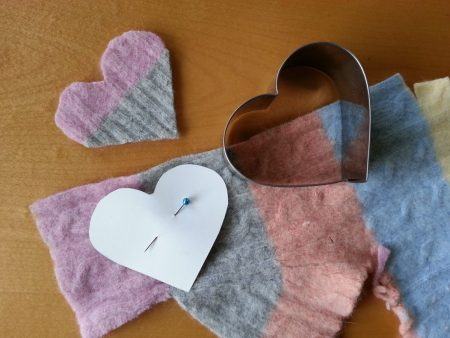 DIY Felted Sweater Coasters via mindfulmomma.com