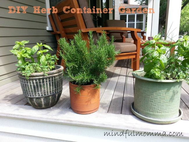 How to Make an Herb Container Garden www.mindfulmomma.com