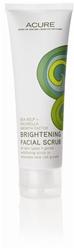 Acure brightening facial scrub via mindfulmomma.com