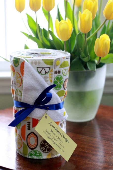 reusable paper towels via mindfulmomma.com