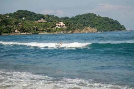 Sayulita, Mexico surfing by Pugawug via flickr cc