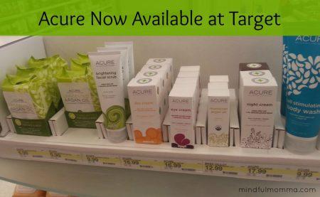 Acure at Target via mindfulmomma.com