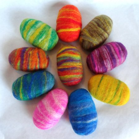 Felted egg soaps and other candy free Easter gifts