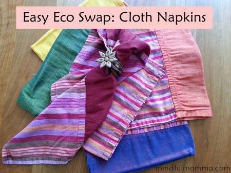 Easy Eco Swap - cloth napkins vs paper